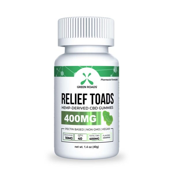 Green Roads 400mg relief toads