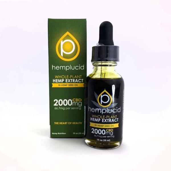 Hempucid 2000mg tincture hemp seed oil