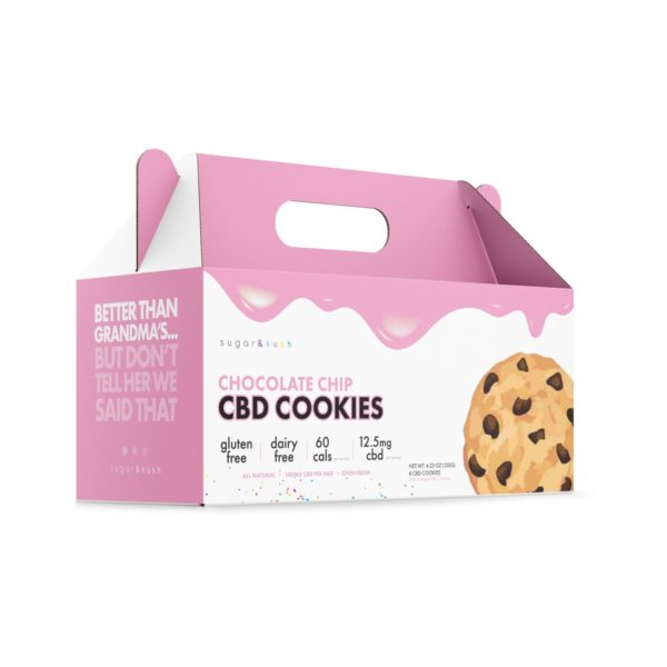 sugar & kush Chocolate Chip CBD Cookies 100mg
