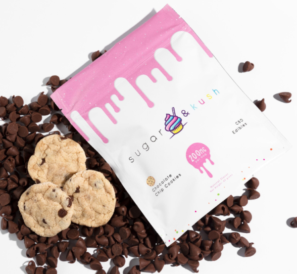 sugar & kush Chocolate Chip CBD Cookies 200mg
