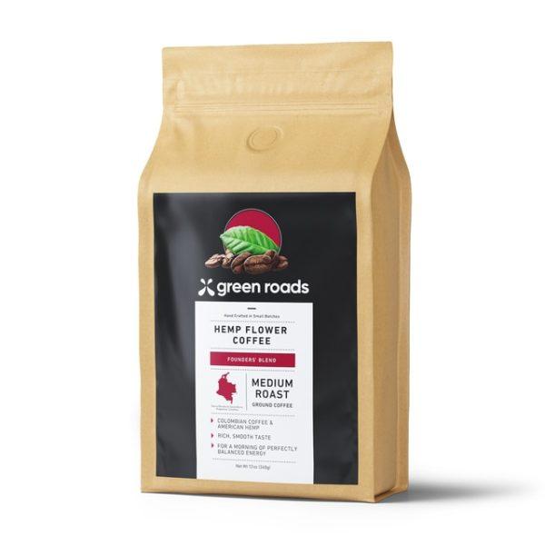 Greenroads-founders-blend-hemp-flower-coffee-12oz