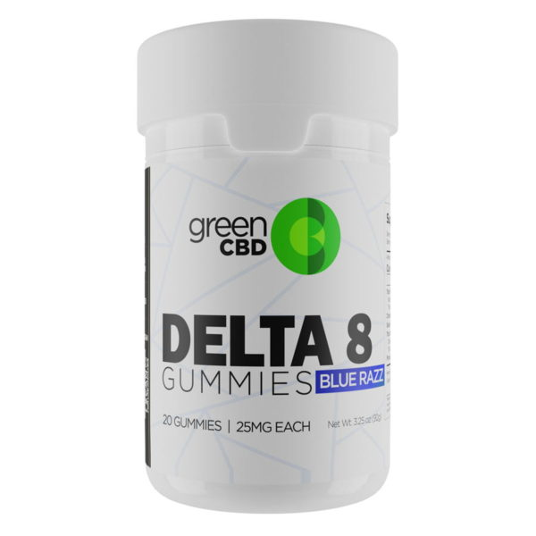 Green CBD Delta 8 Blue Razz Gummy 500mg