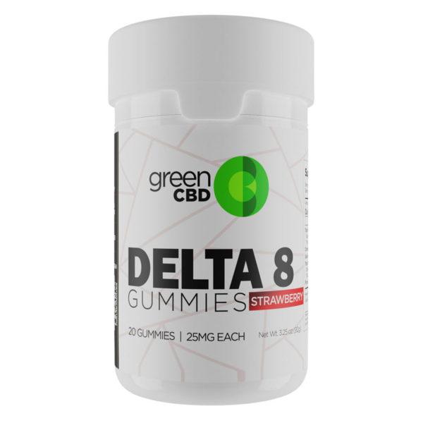 Green CBD Delta 8 Strawberry Gummy 500mg