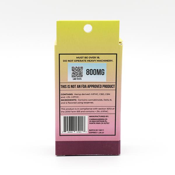 Exotics Labs- Delta 8-Cartridge